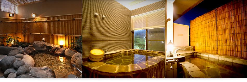 お部屋専用露天風呂、展望風呂